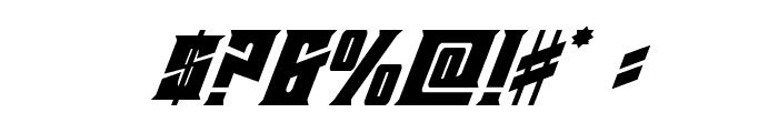 Daemonicus Super-Italic Font OTHER CHARS