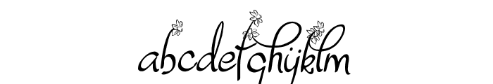 Dafodyl Font LOWERCASE