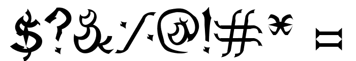 Dagon Gothic Font OTHER CHARS