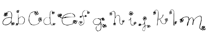 Daisy Mae Font LOWERCASE
