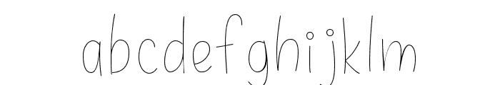 Daisy Rae Thin Font LOWERCASE