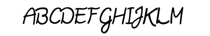 Daisy Script Font UPPERCASE