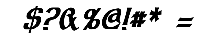 Dalelands Uncial Condensed Bold Italic Font OTHER CHARS
