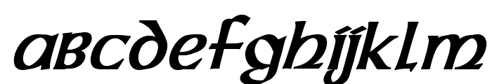 Dalelands Uncial Condensed Bold Italic Font LOWERCASE
