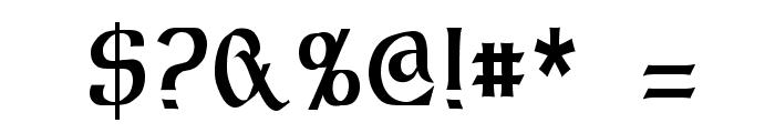 Dalelands Uncial Condensed Font OTHER CHARS
