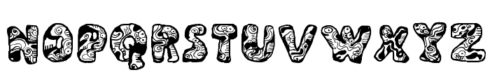 Dali Regular Font UPPERCASE