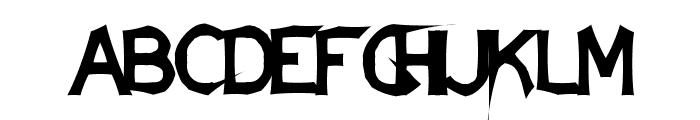 DamagedSataLight Font UPPERCASE