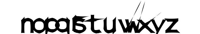 DamagedSataLight Font LOWERCASE