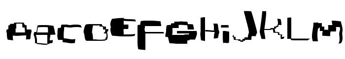 Damagedpixfont Font LOWERCASE