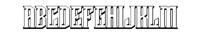 Damages 3D Regular Font UPPERCASE