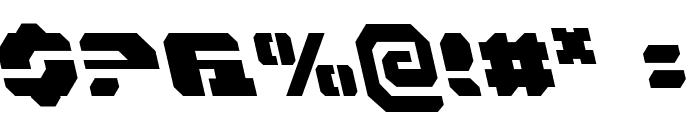 Dan Stargate Leftalic Font OTHER CHARS