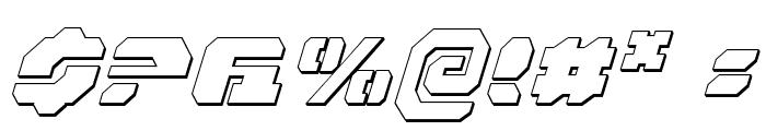 Dan Stargate Outline Italic Font OTHER CHARS