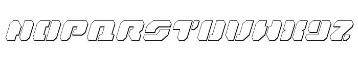 Dan Stargate Outline Italic Font LOWERCASE