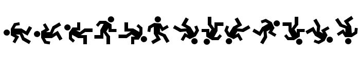 DanceFloor eXit Font LOWERCASE