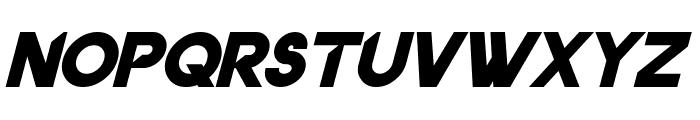 Dancetech Bold Italic Font LOWERCASE