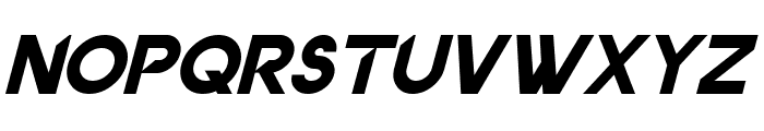 Dancetech Italic Font UPPERCASE