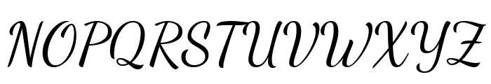 Dancing Script Regular Font UPPERCASE