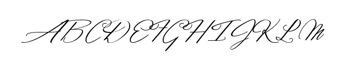 Dancing in the Moonlight Font UPPERCASE