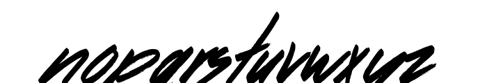 Dancing on the Beach Font LOWERCASE