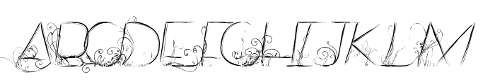 Dancing on the Grass Font UPPERCASE
