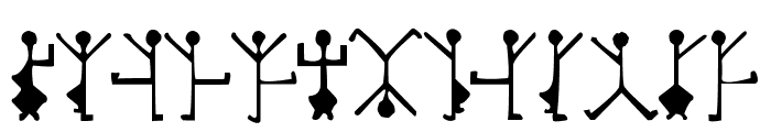 DancingMen Font UPPERCASE