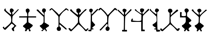 DancingMen Font LOWERCASE