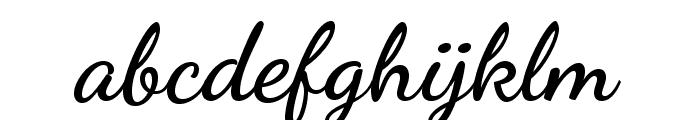 DancingScript-Bold Font LOWERCASE