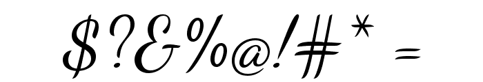 DancingScript Font OTHER CHARS