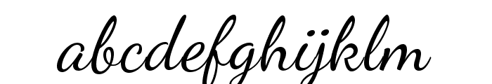 DancingScript Font LOWERCASE