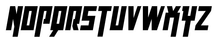 Danger Flight Condensed Italic Font UPPERCASE