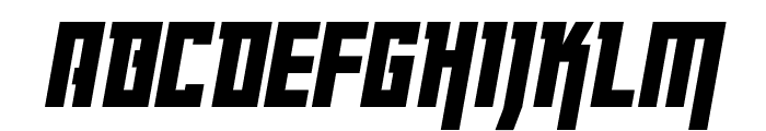 Danger Flight Condensed Italic Font LOWERCASE