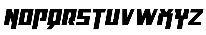 Danger Flight Expanded Italic Font UPPERCASE