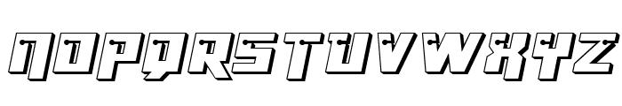 Dangerbot 3D Expanded Expanded Font UPPERCASE