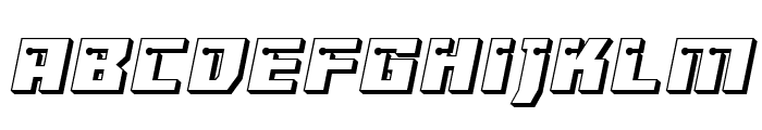 Dangerbot 3D Expanded Expanded Font LOWERCASE