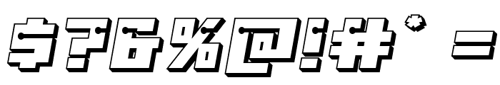 Dangerbot 3D Font OTHER CHARS