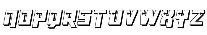 Dangerbot 3D Font UPPERCASE