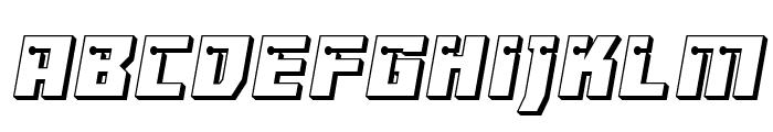 Dangerbot 3D Font LOWERCASE