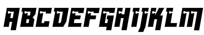 Dangerbot Condensed Condensed Font UPPERCASE