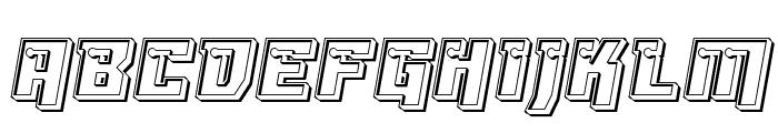 Dangerbot Engraved Font UPPERCASE