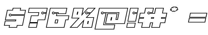 Dangerbot Expanded Outline Expanded Outline Font OTHER CHARS