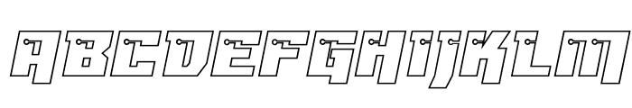 Dangerbot Expanded Outline Expanded Outline Font UPPERCASE
