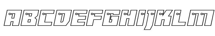 Dangerbot Expanded Outline Expanded Outline Font LOWERCASE