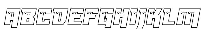 Dangerbot Outline Outline Font UPPERCASE