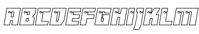 Dangerbot Outline Outline Font LOWERCASE