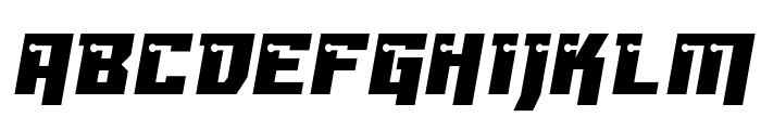 Dangerbot Font UPPERCASE