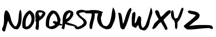 Daniel Werneck's Handwriting Font UPPERCASE