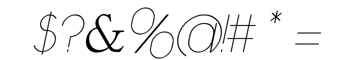 Daniela Italic Font OTHER CHARS