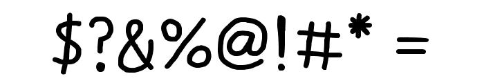 Daniel's Handwriting Bold Font OTHER CHARS