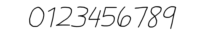 Daniel's Handwriting Italic Font OTHER CHARS