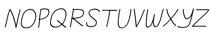 Daniel's Handwriting Italic Font UPPERCASE